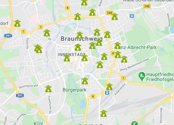 Unsere Carsharing-Stationen in Braunschweig