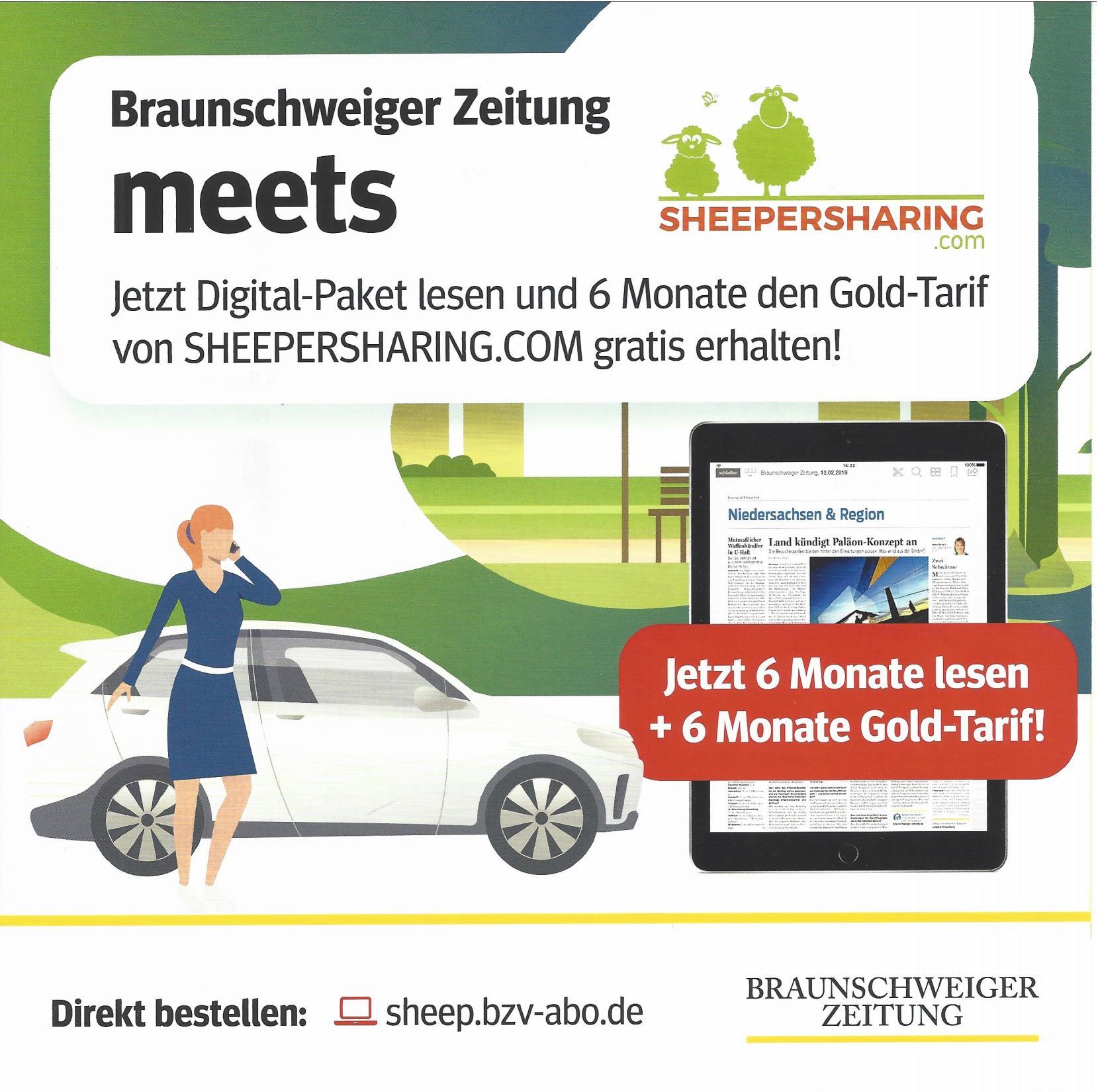 SHEEPERSHARING.COM gemeinsam mit Braunschweiger Zeitung …